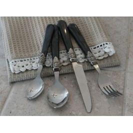 Sada příborů Silver deco - 16 ks, šedá barva, kov, plast