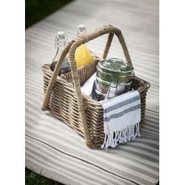 Garden Trading Proutěný košík na piknik Bembridge, hnědá barva, proutí