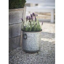 Garden Trading Plechový květináč Malmesbury Velikost S, šedá barva, stříbrná barva, kov, zinek