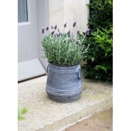 Garden Trading Plechový květník Chadlington Velikost S, šedá barva, stříbrná barva, kov, zinek