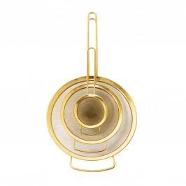 Cedník Gold Velikost S, zlatá barva, kov