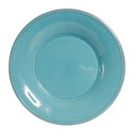 Polévkový talíř Constance Turquoise, modrá barva, zelená barva, keramika