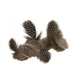 Dekorativní peříčka Pearl 5 gramů, hnědá barva