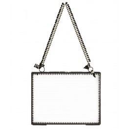 Skleněný fotorámeček Orient Black - vodorovný, černá barva, čirá barva, sklo, kov