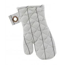 Chňapky Check Grey - set 2 ks, šedá barva, textil