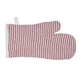 Chňapka Stripes red, červená barva, textil