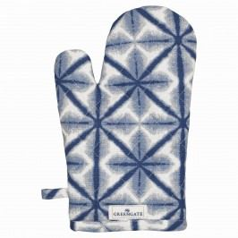Grilovací rukavice Lia blue, modrá barva, textil