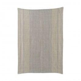 Utěrka Nordic blue 50 x 70 cm, šedá barva, textil