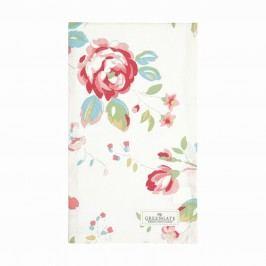 Bavlněná utěrka Amanda White 50 x 70 cm, růžová barva, multi barva, textil