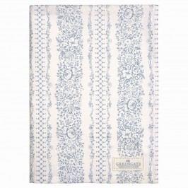Utěrka Jenny dusty blue, modrá barva, textil