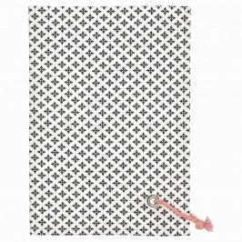 Utěrka Sasha Dark grey, šedá barva, bílá barva, textil