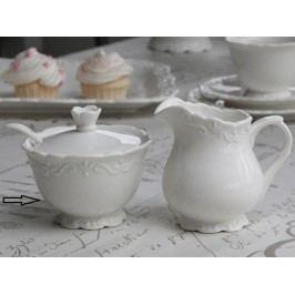 Keramická cukřenka Provence, bílá barva, keramika