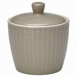 Porcelánová cukřenka Alice warm grey, šedá barva, porcelán