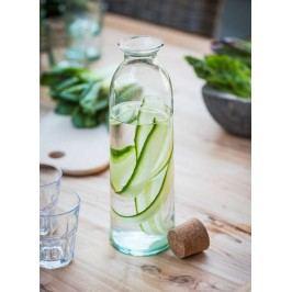 Garden Trading Skleněná lahev s korkovou zátkou Broadwell 1,6 l, čirá barva, sklo, korek