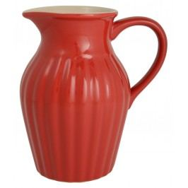 Džbán 19 cm Mynte red, červená barva, keramika