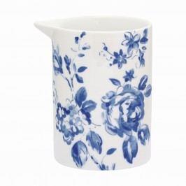 Džbánek Amanda indigo - small, modrá barva, bílá barva, porcelán