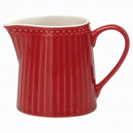 Džbánek na smetanu Alice red 250 ml, červená barva, porcelán