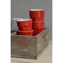 Latte hrneček Mynte red 250 ml, červená barva, keramika