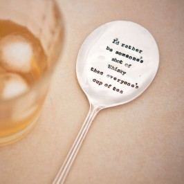 Postříbřené míchátko do drinku Whisky, stříbrná barva, kov