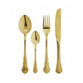 Příborový set Gold, zlatá barva, kov
