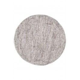 Vlněný sedák Light Grey Melange, šedá barva, textil
