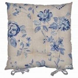 Sedák Nora blue 40x40, modrá barva, šedá barva, textil