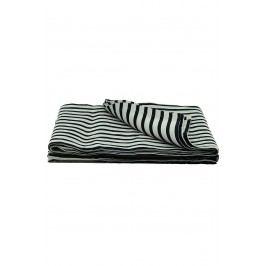 Lněný přehoz Black/grey 250x220, černá barva, textil