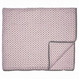 Prošívaný přehoz Laurie nude 140x220, růžová barva, šedá barva, textil
