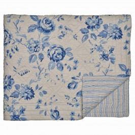 Prošívaný přehoz Amanda dark blue 140x220, modrá barva, šedá barva, textil