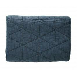 Prošívaná deka Navy 140x200 cm, modrá barva, textil