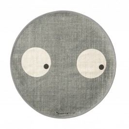 Kobereček do dětského pokoje Eyes Grey, šedá barva, textil