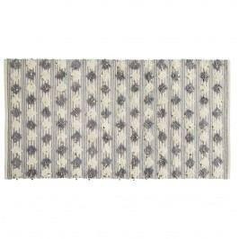 Koberec Pompom Grey/cream 90x170 cm, šedá barva, krémová barva, textil