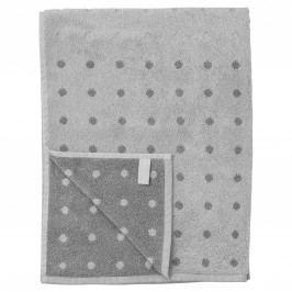 Bavlněný ručník Grey Dot 50 x 70 cm, šedá barva, textil