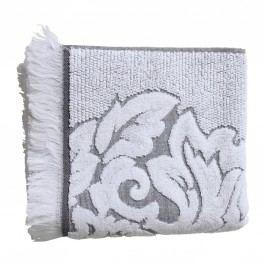 Froté ručník Mona Gris/blanc 50x100 cm, šedá barva, bílá barva, textil