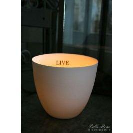 Svícen Live, bílá barva