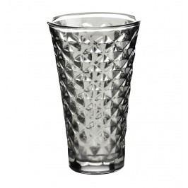 Svícen Facet glass Grey 15 cm, šedá barva, sklo