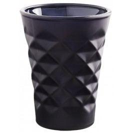 Svícen Facet porcelain Black blue 10 cm, černá barva, porcelán