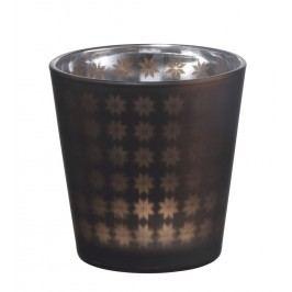 Skleněný svícen Mat brown, hnědá barva, sklo