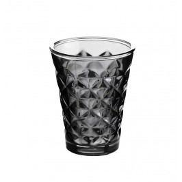Svícen Facet glass Phantom  10 cm, šedá barva, sklo