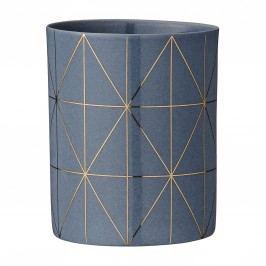 Porcelánový svícen na čajovou svíčku Grey&Gold, šedá barva, porcelán