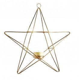 Závěsný svícen Star, měděná barva, kov