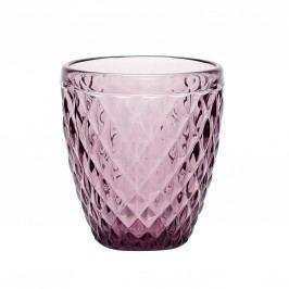 Skleněný svícen Pattern Purple, fialová barva, sklo