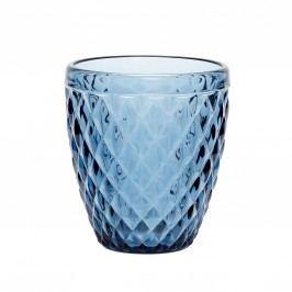 Skleněný svícen Pattern Blue, modrá barva, sklo