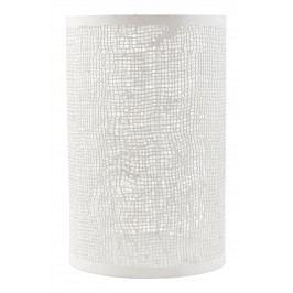Plechový svícen Hessian White, bílá barva, kov
