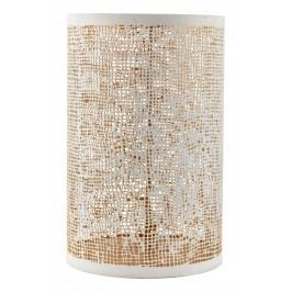 Plechový svícen Hessian White/gold, bílá barva, zlatá barva, kov