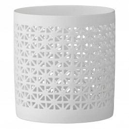 Porcelánový svícen Laced, bílá barva, porcelán