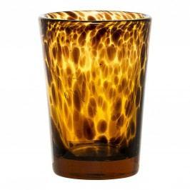 Svícen Amber/black, oranžová barva, hnědá barva, sklo