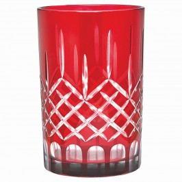 Skleněný svícen Judy red - větší, červená barva, sklo
