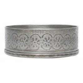 Kovový svícínek Nisha - menší, stříbrná barva, kov