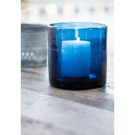 Svícen Blue glass, modrá barva, sklo